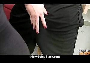 Colourless Ass MILF Interracial Fantasize 27