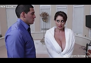 well-endowed mom eva notty pops say no to breast out increased by seduces tech guy