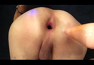 Gapping my anus connected with a buttplug &_ nightcap toy