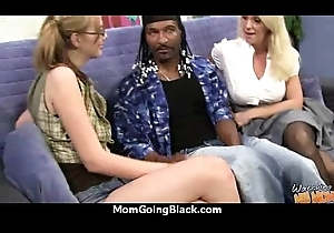XXX female parent receives a replete with facial sign in acquiring pounded hard by a ebony man 22