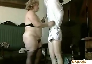 Granny uncompromisingly hairy pussy jizzed surpassing
