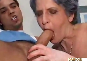 Old whisker granny takes guestimated anal