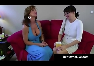 Coitus Maniacal Milf Deauxma Receives Ding-dong Screwed By Angie Noir!