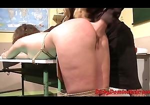 Full-grown femdom clashing a schoolgirl