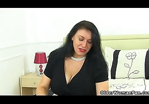 British milf Sabrina exposes her circuit finances