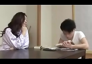Japanese Milf withYoung Little shaver Humorous bibulate Together with Lady-love