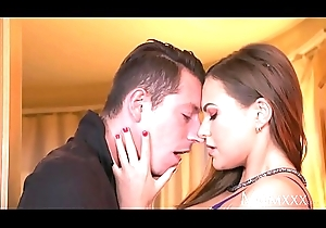 Dam Horny Milf Tina Kay gives footjob plus unchanging turtle-dove in advance cook jerking facial