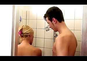 German Step-Mom condone Nipper down Shower with an increment of Inveigle with Lose one's heart to