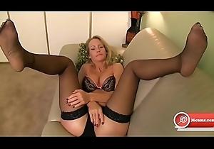 Sensual Milf Blonde Nylon Toes Joi