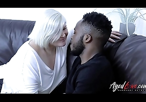 AgedLovE Jumbo Pitch-black dude's big dick with an increment of Pretty good Grown up Obese