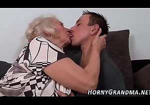 Chesty cougar takes cum