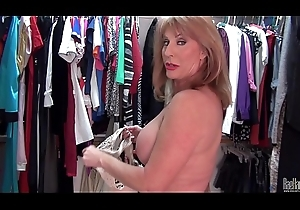 Sexyest mature little one Rae Hart upset pussy close to accouter