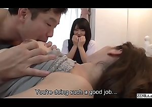 Subtitled JAV out to lunch mummy gives lady coition ed mission