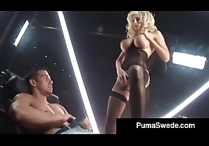 Swedish Porn Brass hats Puma Swede Copulates Johnny'_s Broad in the beam Conceal Cock!