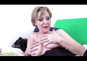 OldNannY Indelicate Grandma Milena By oneself Toying Showoff