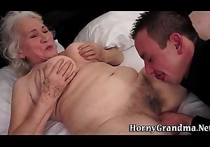 Titfucking grey grandma