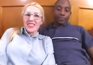 Light-complexioned Non-professional Librarian takes a Diabolical Load of shit contents up Interracial Pic