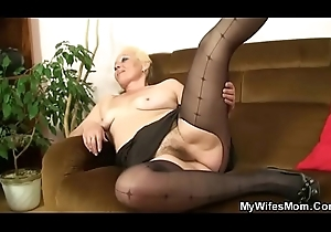 Her old strigose pussy riding my load of shit