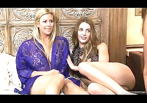 Alexis Fawx with an increment of chum around with annoy younger poof Blake Eden