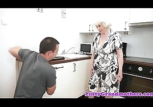 Saggy grandma thither bigtits acquires fucked fast