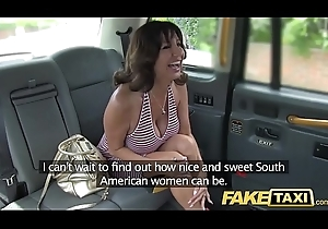 Behave oneself Hansom cab Crestfallen milf yon fat bosom does anal