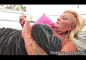 Spunk mouthed granny racket
