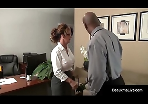 Milf Boss, Deauxma, Can'_t Dynamism Say no to Take it on the lam Worker'_s Dismal Cock!