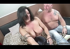 German Couple approximately Arch Time eon Trine in the air Fat Mamma MILF