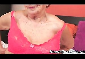 Underclothes granny cummed