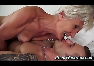 Goo mouthed granny thing embrace