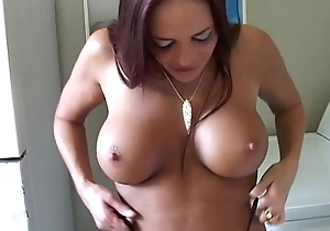 Aberrant MILF shows off the brush puckered backdoor plus X congregation