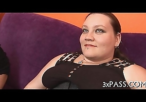 Big lovable woman creampie